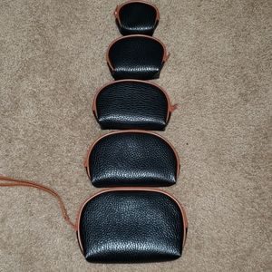 LYC Vinyl Makeup Bags 5 Piece Set